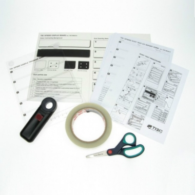Набор с лентой для оценки степени запыленности поверхности по ISO 8502-3 TQC SP3200