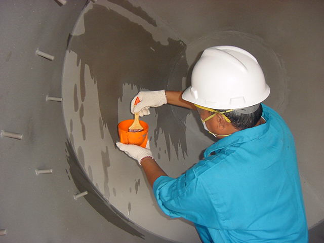 подготовка металлической поверхности для нанесения полимера belzona