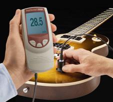 Измерение лакового покрытия на гитарах