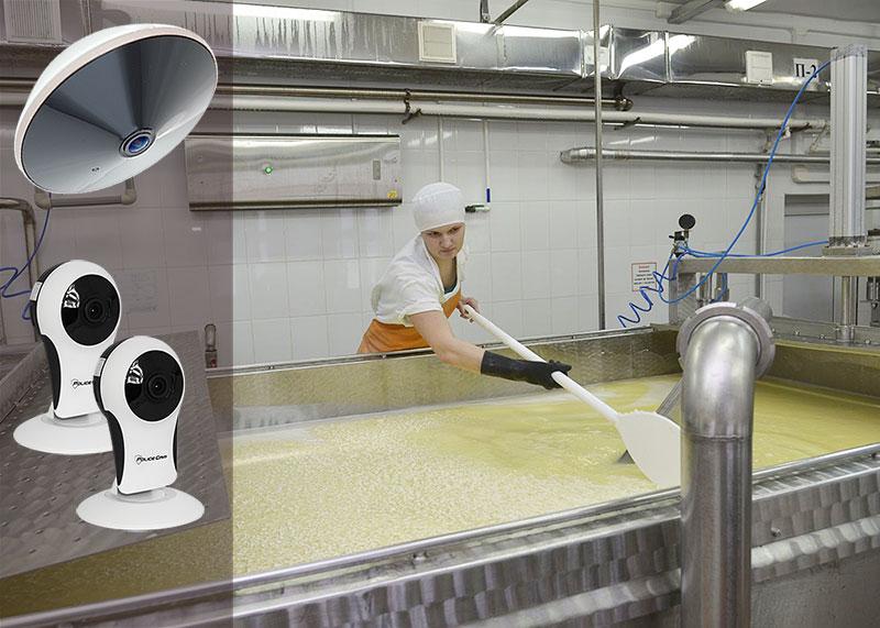 видеокамеры в пищевом цеху
